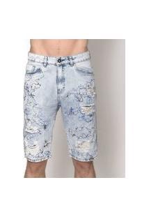 Bermuda Masculina Jeans Blue Risk