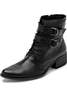 Bota Sandalo Clave De Fa Clarin Feminina - Feminino-Preto