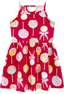 Vestido Infantil Menina Kyly Vermelho