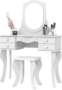 Penteadeira Princesa Com Espelho Branco