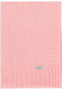 Manta Cobertor De Berço Infantil Tamine Tricô Luxo - Feminino-Rosa Claro