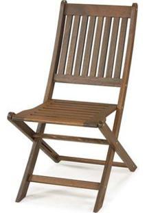 Cadeira Dobravel Sem Braco Cor Stain Nogueira - 16752 - Sun House
