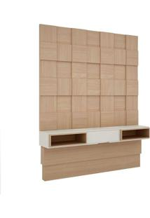 Painel Para Tv 60 Polegadas Portinari Natural E Off White