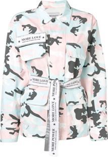 Forte Dei Marmi Couture Jaqueta Camuflada 'More Love' - Rosa