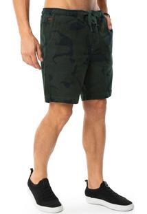 Bermuda Sarja Com Elastano Verde