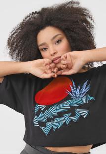 Camiseta Cropped Forum Estampada Preta - Preto - Feminino - Algodã£O - Dafiti