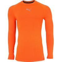 Camiseta Manga Longa Puma Baselayer Ls - Masculina - Laranja d72782c147022
