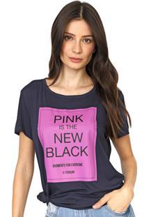 Camiseta Forum Lettering Azul-Marinho