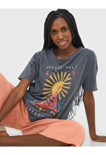 Camiseta Cantão Proteção E Luz Cinza