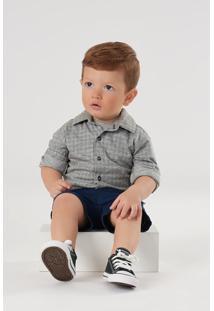 Camisa Up Baby Beb㪠Cinza - Cinza - Menino - Dafiti