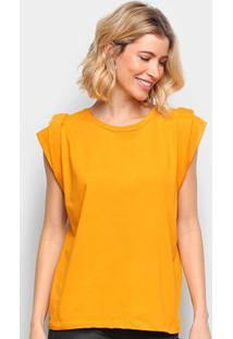 Camiseta Colcci Básica Feminina - Feminino-Amarelo