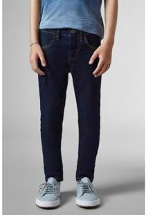 Calça Infantil Jeans Combate Reserva Mini Masculina - Masculino-Azul Escuro