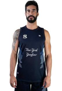 Regata New Era Mlb New York Yankees Sport Stripes Masculina - Masculino