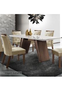 Conjunto De Mesa & Cadeiras Atena- Chocolate & Animale Blj Móveis