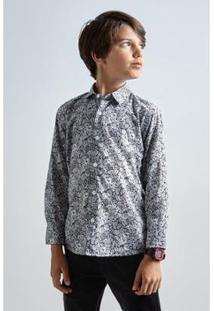 Camisa Mini Pf Liberty Luna Reserva Mini Masculina - Masculino-Branco
