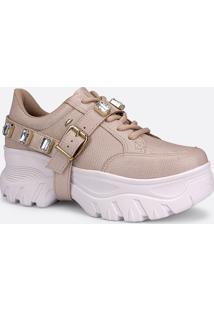 Tênis Feminino Chunky Sneaker Textura Pedraria Dakota