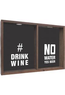 Quadro Porta Rolhas Drink Wine L Madeira