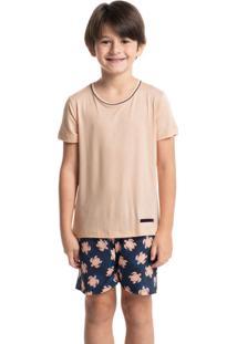 Pijama Infantil Masculino Curto Estampado Leandro