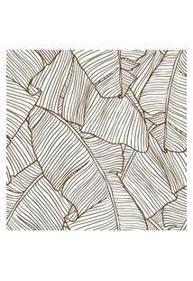 Papel De Parede Stickdecor Adesivo Folhas Bananeira Contorno 100Cm L X 300Cm A