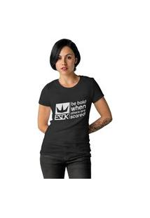 Camiseta Feminina Ezok Royal Brand Preto