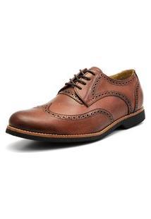 Sapato Social Shoes Grand Europa Caramelo