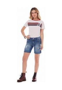 Bermuda Slim Com Vivo Jeans 34