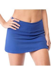 Shorts-Saia Cajafit Textura Azul