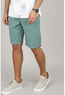 Bermuda De Sarja Masculina Bbb Reta Com Bolsos Verde