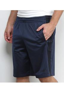 Bermuda Adidas Tric 3S Masculina - Masculino-Marinho+Preto