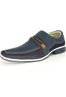 Sapato Social Bali Man Lona Azul