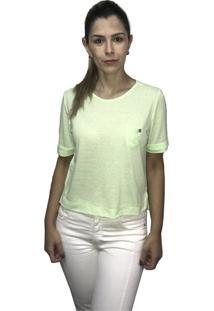 Camiseta Hifen Com Bolso Verde