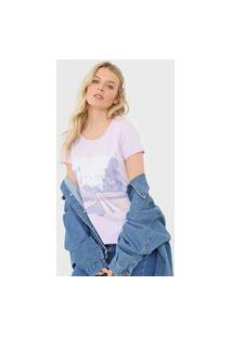 Camiseta Hering Estampada Lilás