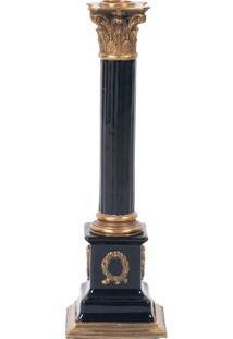 Castiçal Decorativo De Porcelana Nero Iii