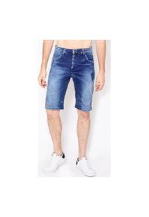 Bermuda Jeans Blue Black Emporio Alex Jeans Azul