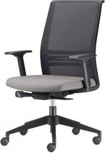 Cadeira Agile Presidente Assento Crepe Cinza Claro Base Nylon Piramidal E Rodizio Em Pu - 55692 Sun House
