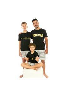 Pijama Infantil Juvenil Masculino Homem Aranha