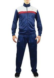 Agasalho Kappa Sportswear Jones Helanca Masculino - Masculino-Azul Escuro