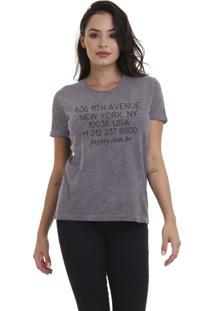 Camiseta Feminina Joss Go Ny Chumbo - Kanui
