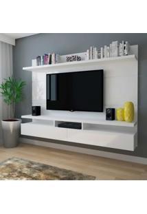 Painel Para Tv 60 Polegadas Zeus Branco Gloss 220 Cm