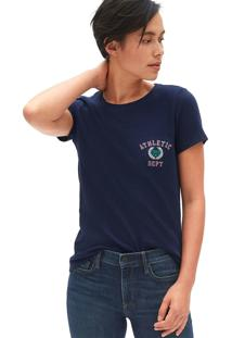 Camiseta Gap Bordado Azul-Marinho