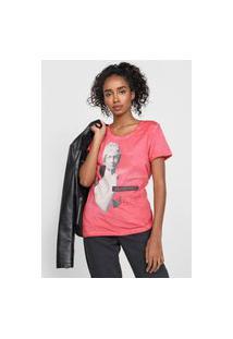 Camiseta Enfim Opinion Rosa