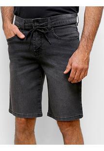 Bermuda Jeans Element Essentials Masculina - Masculino-Cinza