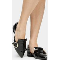 2be1057f23 Mocassim Shoestock Franja Fivela Feminino - Feminino-Preto