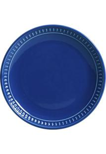 Prato Sobremesa Sevilha Cerâmica 6 Peças Azul Navy Porto Brasil