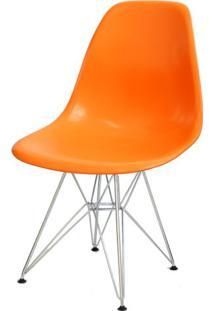 Cadeira Eames Polipropileno Laranja Base Cromada - 14906 - Sun House