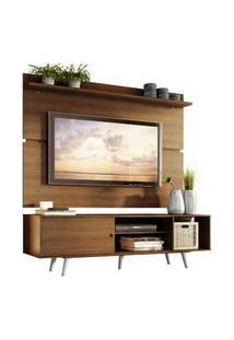 Rack Madesa Dubai E Painel Para Tv Até 65 Polegadas Com Pés Rustic/Branco Branco