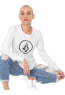 Camiseta Volcom Falling Ditsy Branca - Kanui