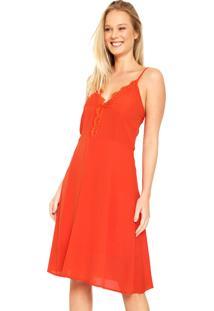 Vestido For Why Curto Evasê Vermelho