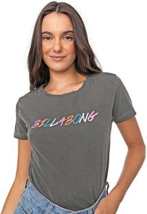 Camiseta Billabong True Colors Grafite