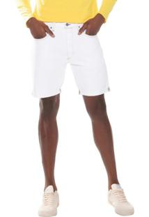 Bermuda Jeans Levis 501 Taper Cut Off Pride 10001 Branca